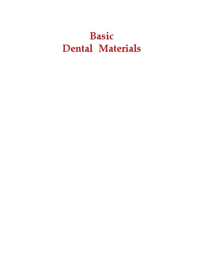 restorative dental materials 2002 strength of materials dentistry