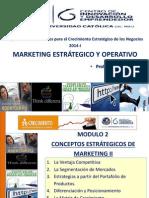 Sesión 2 Conceptos Estratégicos de Marketing II