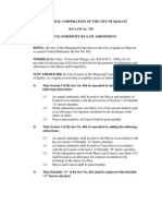 COUNCIL INDEMNITY BY-LAW AMENDMENT