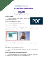 Malaria - FAQ, DPH-Tamil Nadu, India