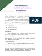 Japanese Encephalitis - FAQ, DPH-Tamil Nadu, India
