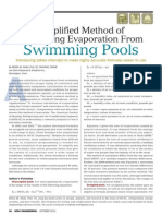 Calculating Evaporation Swimming Pools