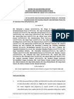 Adjudication Order in respect of Mr. N L Kanani and 47 orthers the Erstwhile Promoters of M/s. Essen Supplements India Ltd in the matter of M/s. Essen Supplements India Ltd. (now known as Square Four Projects India Ltd)