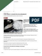 Como Reduzir o Consumo de Sal Na Alimentação