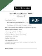 Renewable Energy Principles Lab 2