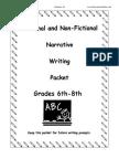 Narrative Essay Grades 6-8