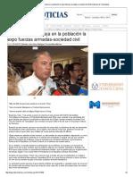 25-08-2014 'Un Gran Impacto Deja en La Población La Expo Fuerzas Armadas-sociedad Civil'