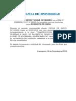 Const. Acobamba Pista y Veredas