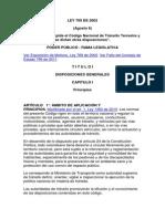 Ley 769 de 2002 Godigo Nacional de Transito