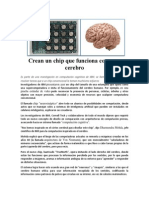 Crean Un Chip Que Funciona Como Un Cerebro