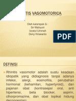 Rhinitis Vasomotorica Kel.g