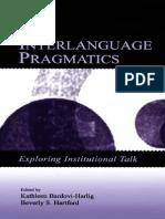 Interlanguage Pragmatics Bardovi-Harlig&Hartford LB