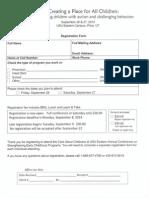 Conference Registration Form