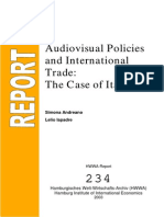 Audiovisual Policies and International Trade - The Case of Italy