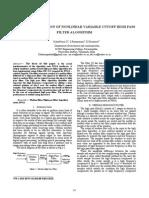 27. VLSI Implementation of Non Linear Variable Cutoff HPF Algorithm