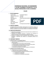 Sílabo de Economía Pública (2014-I)