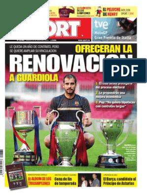 Sport 30-05-09   FC Barcelona   Liga de Campeones de la UEFA