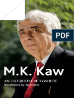 An Outsider Everywhere - Revelations by an Insider - M.K. Kaw