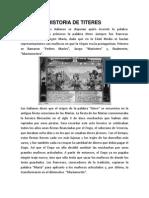 Historia de Titeres