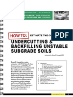 Backfilling unstable Subgrades