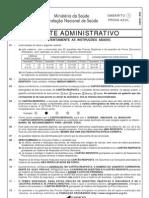 Prova 15 - Agente Administrativo - Gabarito 1 - Azul
