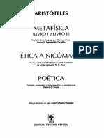 Aristóteles - Metafísica - Livro I e II - Ética a Nicômaco - Poética