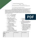 Evaluacion de Quimica Nomenclatura