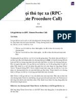 Lời gọi thủ tục xa (RPC- Remote Procedure Call)