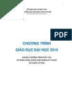 Khung CTDT2010 CNCN Cac Nganh 20120717