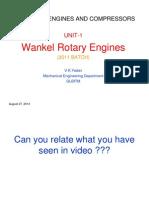 Wankel Rotary Engines