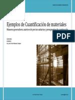 Ejemplos de Numeros Generadores Matrices y Presupuestos