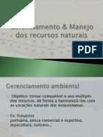 Gerenciamento e Manejo Dos Recursos Naturais