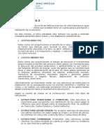 2. Costos Directos e Indirectos, y Sus Estructuras