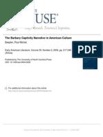 The Barbary Captivity Narrative in American Culture