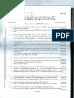 Digital System Design Using Verilog December 2011