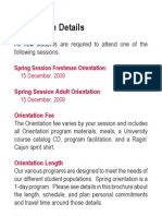 NSO Spring 2010 Brochure