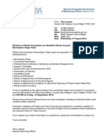 Nomination Paper Pack - Shalfleet PC Oct 2014