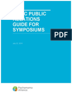 Basic Public Relations Guide for Symposiums