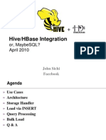 Hadoop, Hbase, And Hive