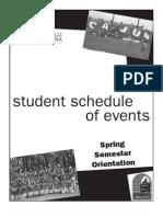Spring 2010 Student Schedule