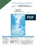 St. Timothy Bulletin for December 6, 2009