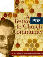 A Testimony to Church Community (Eberhard Arnold)