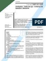 NBR 4309-Guindastes - Cabo de Aço - Critérios de Inspeção e Descarte