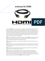 Versiones de HDMI