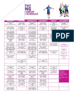 YMCA Fall 2014 Group Exercise Schedule