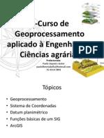 I-Curso de ArcGIS Aplicado à Engenharia e Ciências