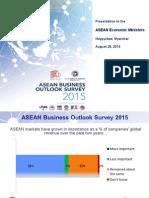 ASEAN Business Outlook Survey 2015