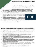 Output Perspectives-brand Interpretatios