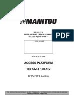 Operators Manual ATJ160 ATJ180