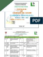 Catálogo de Psicología Tg x Autor 1983-2013 Jm
